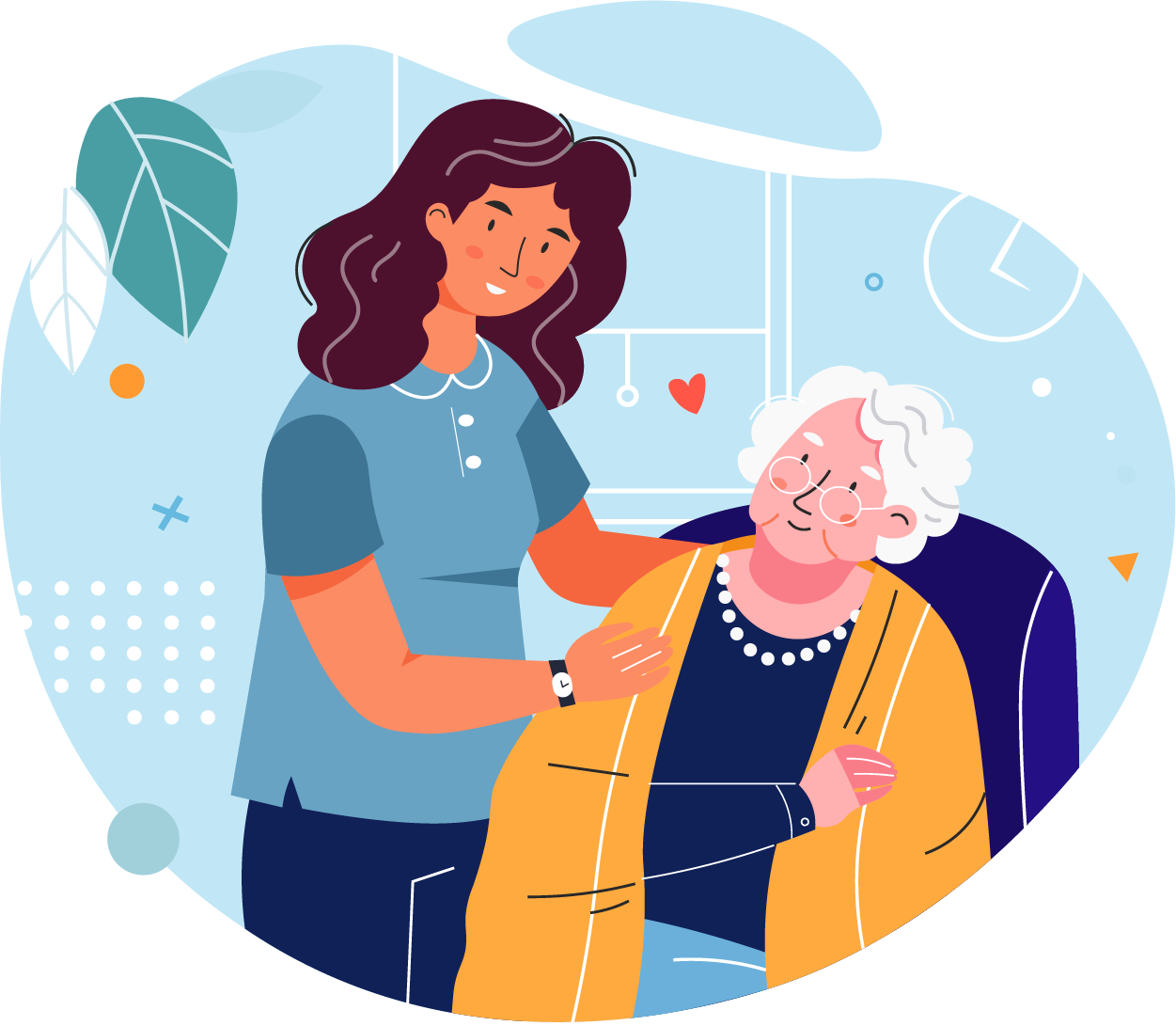 Illustration with a nurse at work